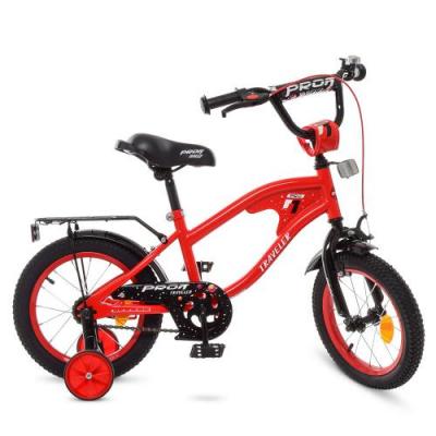 Велосипед дитячий PROF1 14д. Y14181 (1шт / ящ) TRAVELER, червоний