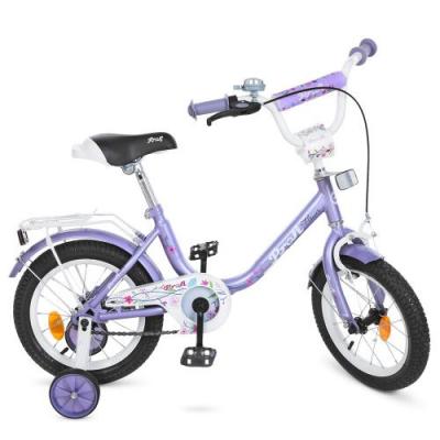 Велосипед дитячий PROF1 14д. Y1483 (1шт/ящ) Flower, фіолетовий