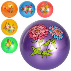 М'яч дитячий MS 2649 малюнок, квіти