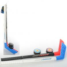 Хокей M 2910 ключка, шайба, в сітці