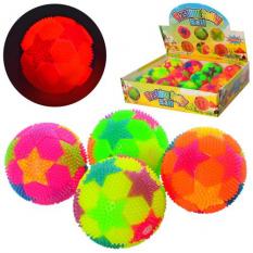 М'яч масажний MS 2392-13 (1уп / 12шт) пищалка, футбол, в дисплеї