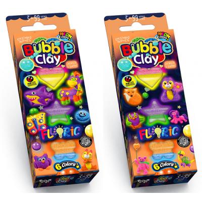 """Пластилін кульковий BBC-FL-6-01U-02U """"Bubble Clay"""", """"FLUORIC"""", укр"""