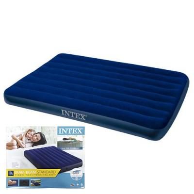Велюр матрац 64758 (3шт/ящ) INTEX, 137-191-25 см, синій, в коробці
