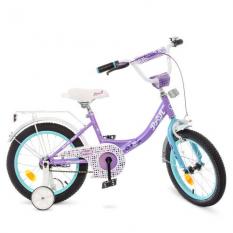 Велосипед дитячий PROF1 16д. Y1615 (1шт/ящ) Princess, бузково-м'ятний