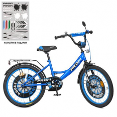Велосипед дитячий PROF1 20д. XD2044 (1шт/ящ) Original boy, синьо-чорний