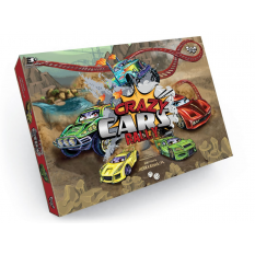 "Гра настільна 0357dn (20шт) ""Crazy Cars Rally"", ""Данко-тойс"", в коробці"