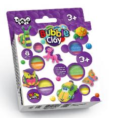 """Пластилін кульковий BBC-04-01 """"Bubble Clay"""", 8 кол, в коробці"""