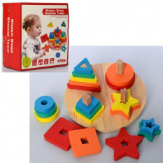 Дерев'яна іграшка MD 2569 Геометричний, в коробці