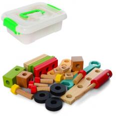 Дерев'яна іграшка MD 2614 Конструктор, в ящику
