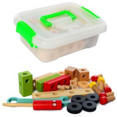 Дерев'яна іграшка MD 2621 Конструктор, в ящику