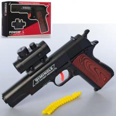 Пистолет 600 (96шт).21см, резиновые пули, в кор-ке, 24-15,5-4,5см