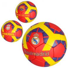 М'яч футбольний 2500-72 розмір 5, клуби, в кульку
