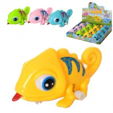 Заводна іграшка 5801B (1уп / 12шт) хамелеон, 11 см, в дисплеї