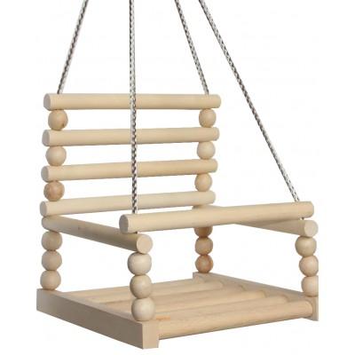 Гойдалка №4 k-0161 (10шт) дерев'яна, 6 круглих планок, (30 * 30 спинка 20см)