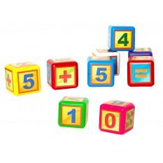 """Кубик 028-2  математики, видувний, 9 штук малі """"BAMSIK"""""""