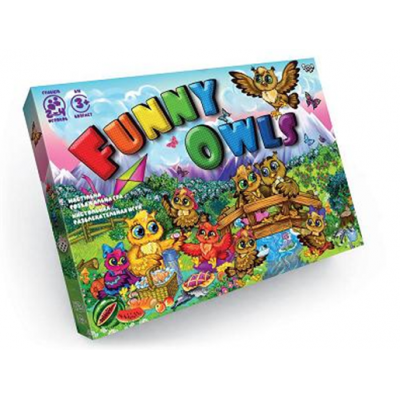 """Гра настільна 0361dn """"Funny Owls"""", """"Данко-тойс"""", в коробці"""
