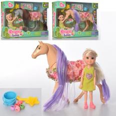 Лялька 53808 шарнірна, з конем, в коробці