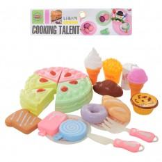 Продукты 6605E (72шт) на липучке, сладости, посуда, в кульке, 21-30-7см