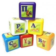 """Кубик 028-4 абетка, нові, 9 штук, малі """"BAMSIK"""""""