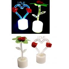 Світильник-свічка 0380 Серце Love, що світиться, в слюди