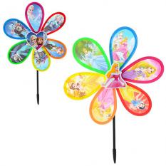Вітрячок M 2409 (200шт) розмір великий, діаметр 28 см, паличка 29,5 см, квітка, ПВХ, 2 види (FR, DP), в кульку, 28-28-2 см