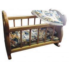 Ліжечко-колиска 03-101 с набором постельного білизни, в коробці