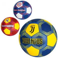 М'яч футбольний 2500-75 розмір 5, клуби, в кульку
