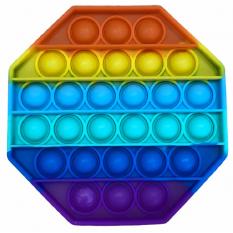 """Іграшка Антістрес """"Pop It"""", восьмикутник, квадрат, веселка, поп ит, попит, поп іт, попіт, popit"""