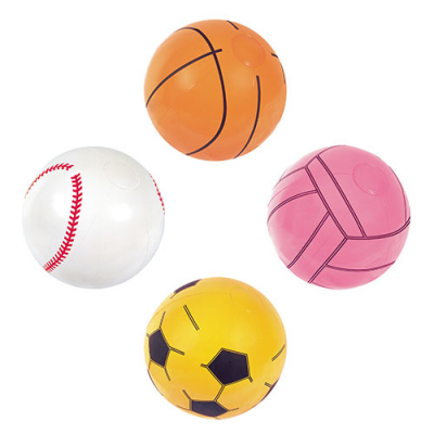 Мяч 31004 (36шт) Виды спорта, 41см, 4 вида