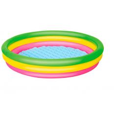 Басейн 51103sh (6шт) детячий,круглий,надувне дно,3 кольца,рем зап,211л,152-30см,в кульцi,33-28см