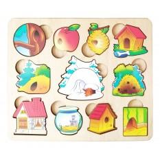 Дерев'яна іграшка Л-024-7 Хто де живе