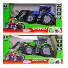 "Трактор инерц. 7924AB (36шт/2) ""АВТОПРОМ"",1:32, 2 вида по 3 цвета,батар.,свет,звук в коробке 29,5*11"