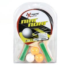 Теннис настольный T2017 (50шт) 2 ракетки, 3 мячика, в слюде 29*19 см