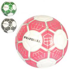 Мяч футбольный EN 3195 (30шт) размер 5, ПУ 3,5мм, ламинир, 400-420г, 3цвета, в кульке