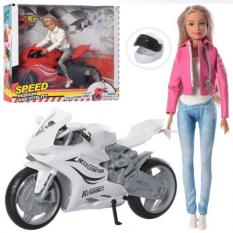 Лялька DEFA 8459 шарнірна, мотоцикл, в коробці