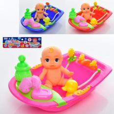 Пупс 58536-1 ванна, качечка, мочалка, пляшечка, в кульку