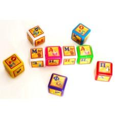 Кубик 028-3 азбука видувної, 9 штук, малий BAMSIK