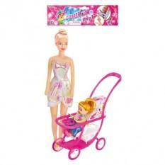 Лялька 339-1/2214 з коляскою, 2 шт в кульку