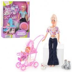 Лялька DEFA 20958 з дочкою і собачкою
