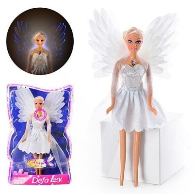 Лялька DEFA 8219 ангел, світло, в слюді
