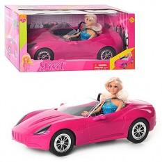 Лялька DEFA 8228k в машинці, в кор-ке