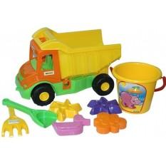 """Машина 39204 """"Multi truck"""" з набором для піску 8 елементів, """"Тигрес"""""""