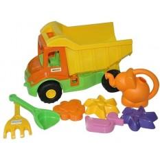 """Машина 39206 """"Multi truck"""", з набором для піску з лійкою 8 елементів, """"Тигрес"""""""