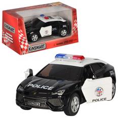 Машина залізна HU KINSMART KT 5368 WP инерционая, поліція, в кор-ке
