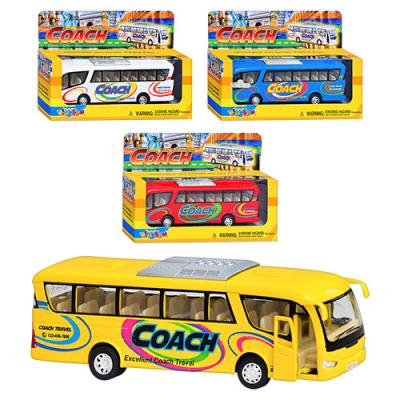 Машинка KS 7101 W металева, автобус, в кор-ке