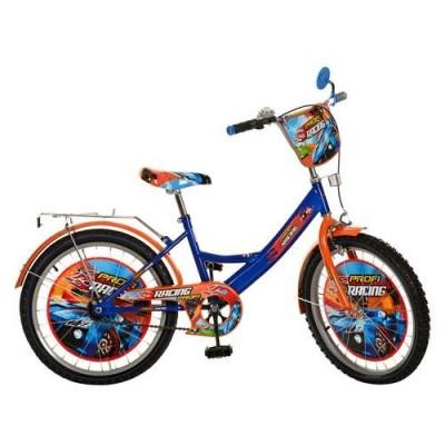 """Велосипед дитячий PROF1 мульт 20д. PR 2043 """"Racing"""", помаранчево-синій"""