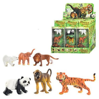Тварини Q 9899-187m(1 уп) диких, 2 види, 3 шт в кор-ке, 12шт в дисплеї, 33-22-21см