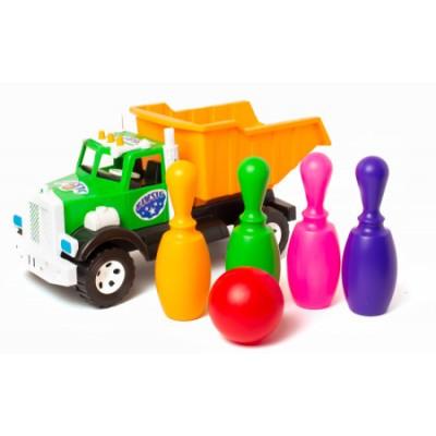 """Вантажівка Бамсик 019-3 """"BAMSIK"""", кеглі малюки"""