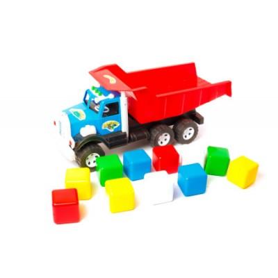 """Вантажівка Фарго 009/4 """"BAMSIK"""",  кубики маленькі"""
