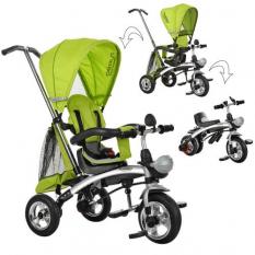 Велосипед M 3212A-3 (1шт)три кол.резина,трансформер(беговел),поворот,швидкозн.колеса,зелений
